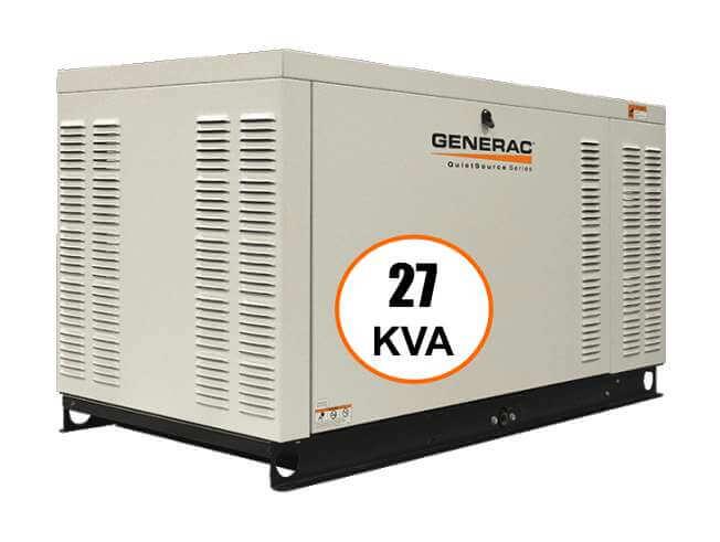 Generac generadores electricos 27 kva trifasico for Generador arranque automatico